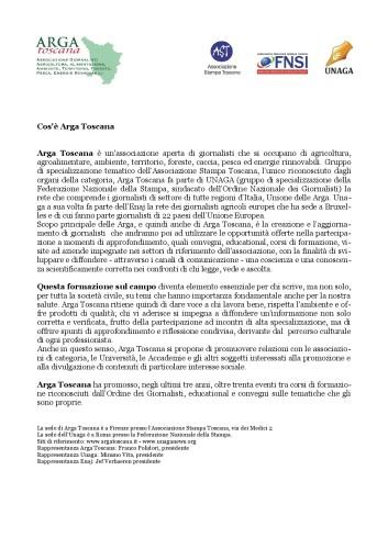 Lettera presentazione Arga