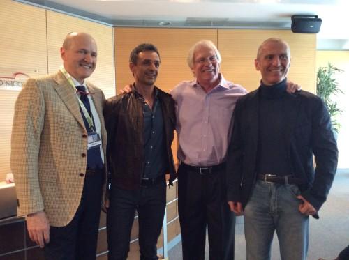 Da sinistra i dottori Ezio Costa, Filippo Ongaro, Loren Cordain